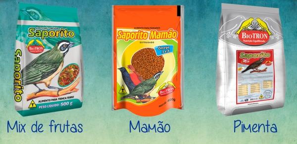 Saporito Mix de Frutas, Mamão e Pimenta