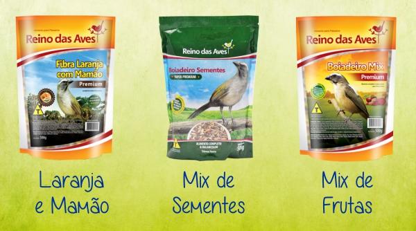 Laranja e Mamão, mix de sementes e frutas
