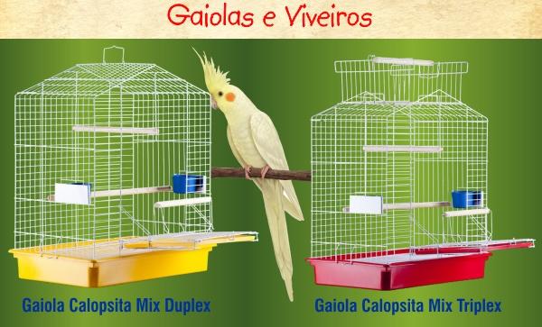 Gaiolas e Viveiros para Calopsitas